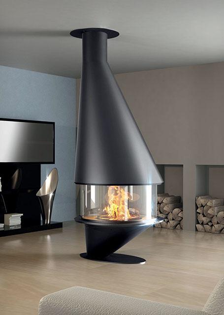 chemin e suspendue 4 faces alps cheminees. Black Bedroom Furniture Sets. Home Design Ideas