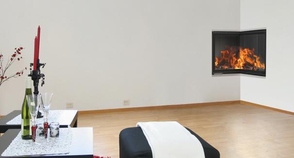 chemin e d angle ou traversante alps cheminees. Black Bedroom Furniture Sets. Home Design Ideas